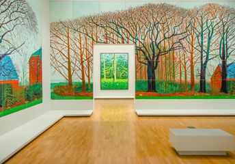 "Five Must-See Pieces at David Hockney's ""Current"""