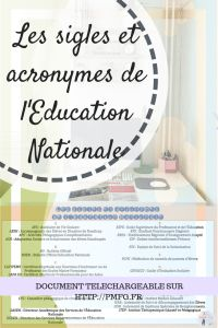 Les sigles et acronymes de l'Education Nationale