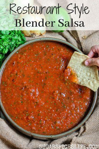 Restaurant Style Blender Salsa - #Blender #Restaurant #Salsa #Style