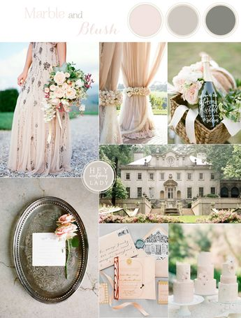 Elegant Country Manor Wedding Inspiration in Marble and Blush