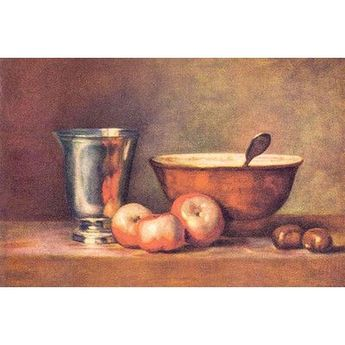 Buyenlarge 'The Silver Cup' by Jean Chardin Painting Print