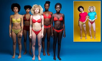 Designer is attacked for powerful pictures of black women's skin tones
