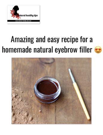 How to make natural homemade eye brow filler easily