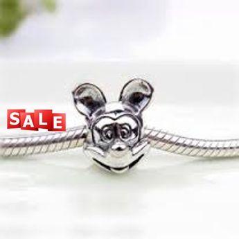 2302460d7 Disney Pandora, Parks, Mickey Portrait Silver charm Bead, Authentic