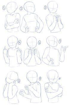 Un tas de poses après les tutoriels précédents sur les bras et le torse! Je n'ai pas mis de