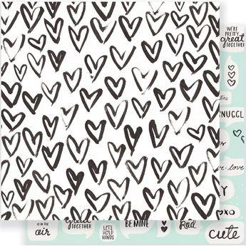Heart Day - Snuggles Papier RV 30x30cm Crate Paper