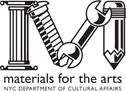 Materials for the Arts collects a wide variety of items which are distributed for free to MFTA recipients in New York City's artistic and educational communities. Typical donations to MFTA include bolts of fabric, paper, art books, office supplies, electronics, props, paint, frames, craft supplies, and furniture.