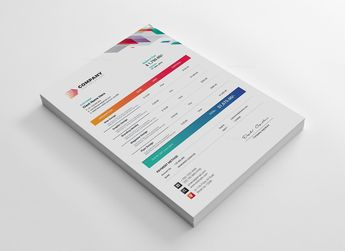 Vivid Corporate Invoice Design Template 5.99
