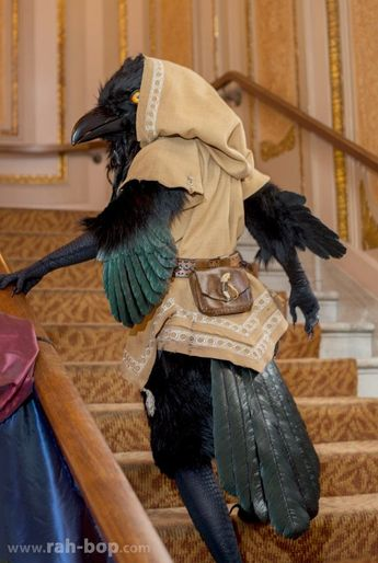 Artist Makes A Giant Raven Costume Entirely By Hand, And It Looks So Badass