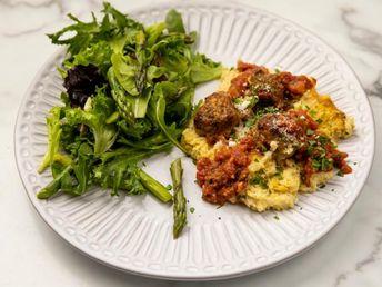 Meatball and Polenta Casserole