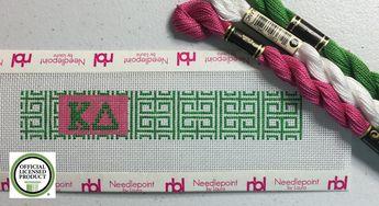 Needlepoint Key Fob Kit- Sorority - Kappa Delta- Corinthian Key Officially…