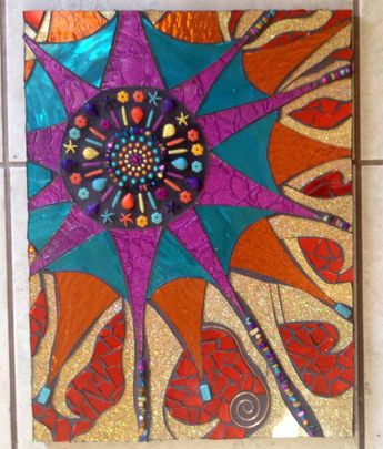 Stained Glass Mosaic Beaded Wall Art