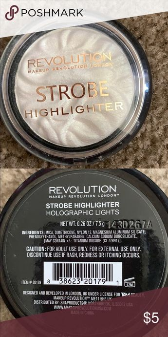 Makeup Revolution strobe highlighter Makeup revolutions strobe highlighter used once! Makeup Revolution Makeup Luminizer