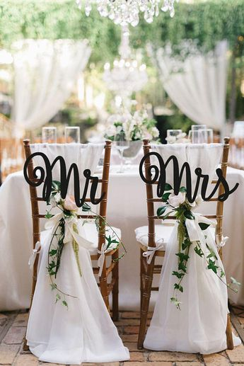 Wedding Chair Sign Mr&Mrs Chair Sign Wooden Chair Sign Gold Chair Signs Chair Backs Wedding Chair Decor Rustic Wedding Signs