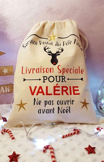 Personalized little Santa Claus sack, Customized Christmas Bag,Santa sack, Santa's personalized Hood, Christmas Hood,christmas sack