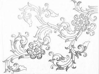 Saree Design Drawing Images