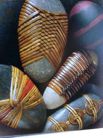 Five Meditations of the Rock of Israel. Five cane wrapped