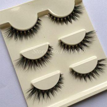 70482d88d31 Hot 1 Box 3 Pairs 3D False Eyelashes Natural Crissross Winged Lengthening  Lifelike Fake Eyelashes Makeup