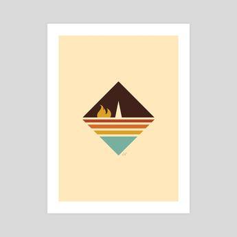 Retro Camping Illustration by Amanda Weedmark
