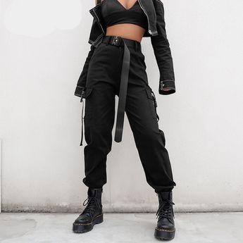 Pantalones Negros de Cintura Alta