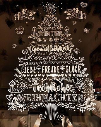 Diy Opulente Weihnachtliche Fensterdeko Mit Kreidemarker