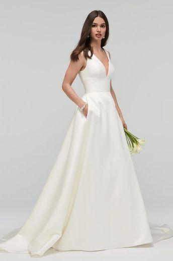 WTOO 19200 Andrina V Neckline Wedding Gown