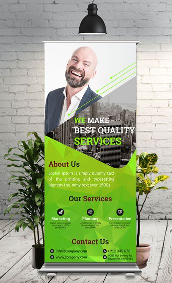 This is simple, eye-catching & corporate Roll Up Banner used for any business