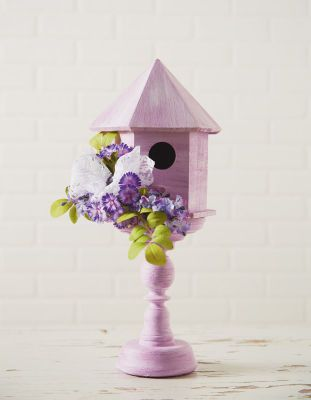 Radiant Orchid Wooden Birdhouse