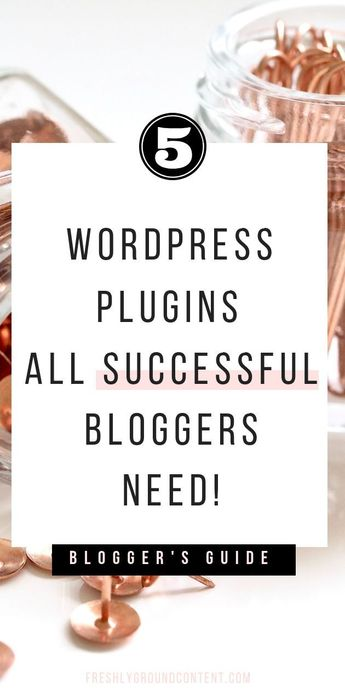 Grab these top free WordPress plugins for a successful blog today! These 5 WordPress plugins will help you create a faster, more appealing, and more profitable blog in just a couple of clicks. Read the quick guide for the full list. #WordPress