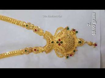 69aa55c459fcf Latest Gold Haram Designs 2018 With Weight