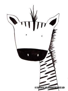 Black and White Zebra Watercolor Nursery Artwork Print Baby Room Kids Room Decor Gifts Under 20 // Little Boys Room wall art