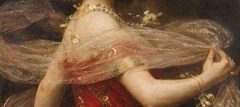 """detailedart: """" Detail (#1) of Salomé (1909), by Paul Antoine de la Boulaye. """""""