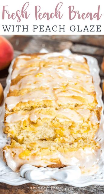 This Peach Bread is a wonderful recipe to incorporate summer peaches. Delicious, moist bread full of ripe diced peaches with a sugar crust.