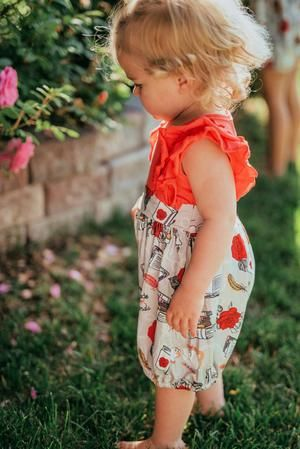 Red & Grey Beauty & The Beast Character Bubble Romper - Sister Twinning