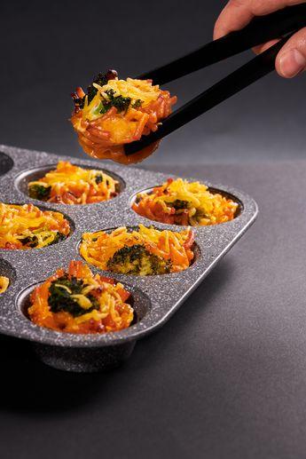 Notre délicieux fromage vegan se prête à merveille à notre recette de muffin au mac & cheese !