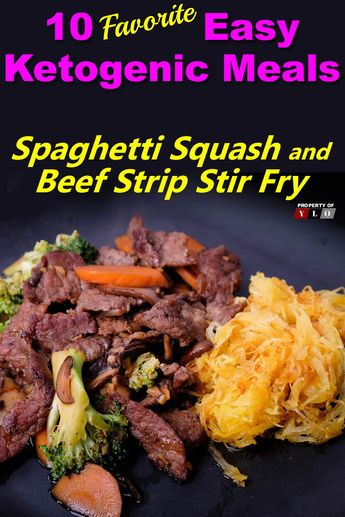 Spaghetti Squash and Beef Strip Stir Fry - Spaghetti squash is just better on the grill, add in some beef and you have a great meal.