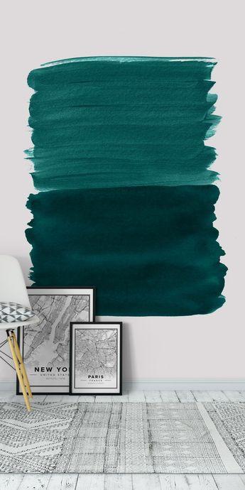 Emerald Abstract Minimalism 3 Wall mural