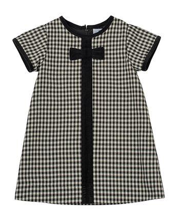 7db6b48df Check Dress with Velvet-Trim Sizes 4-6X