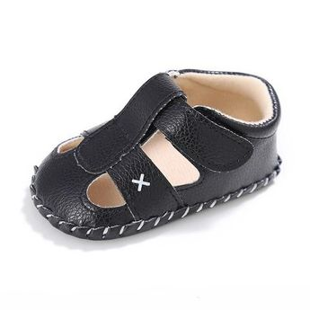 best sneakers c9789 0bcf2 Raise Young Summer PU Leather Baby Boy Sandals Soft Soles Non-slip Solid Toddler  Girl