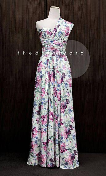 dc5055848a0 TDY Bella Maxi Floral Infinity Dress Convertible Dress Multiway Dress Wrap  Dress Summer Floral Bridesmaid Long