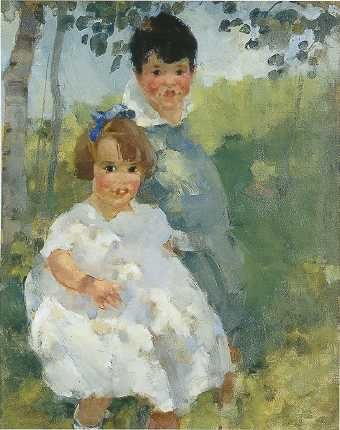 Martha Walter (American Impressionist, 1875–1976) Children in Shade