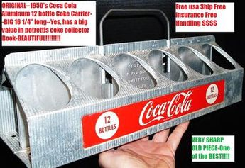 OLD Original 1950 Coca Cola Soda Pop Coke Aluminum Bottle Carrier Beautiful!