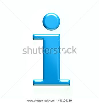 Information icon. 3D rendering illustration