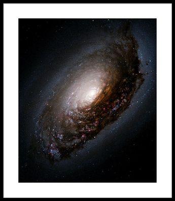 Black Eye Galaxy M64 Framed Print by Astronomy Gift Shop