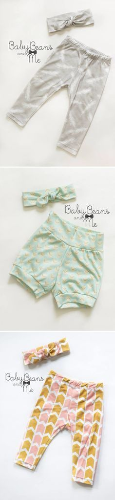 Baby leggings and shorts for summer.  #leggings