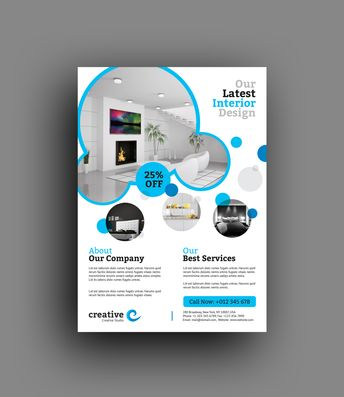 Sydney Stylish Interior Design Flyer Template - Graphic Templates