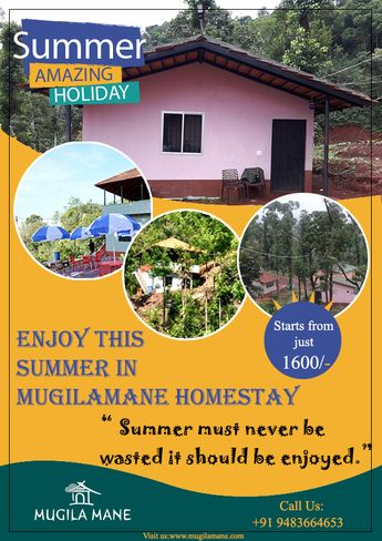 #Mugilamane homestay is an ideal place to head, if you want to enjoy the beauty of nature but still want to indulge in luxury!! The Courtyard Chikmagalur | Karnataka | India | Homestay in #Chikmagalur | #Weekend Gateway from Bangalore | Homestay Amidst Coffee estate Contact☎️ :+91 9481664653