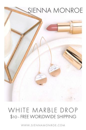 Bijoux – Tendance 2017/2018 : Our best selling statement earring comes in either black and white marble. Hurry…