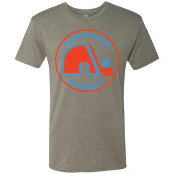 0d6e77c55f9 Vintage Quebec Nordiques Circle Tri Blend T-Shirt in Gray