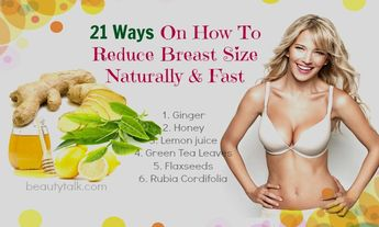21 Ways On How To Reduce Breast Size Naturally & Fast